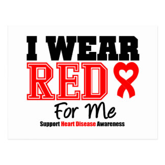 I Wear a Red Ribbon For Me Post Cards