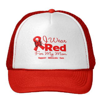 I Wear a Red Ribbon For My Mom Cap