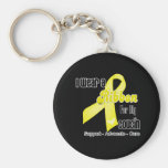 I Wear a Ribbon For My Cousin - Sarcoma Basic Round Button Key Ring