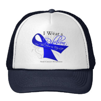 I Wear a Ribbon For My Hero - Anal Cancer Mesh Hats