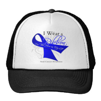 I Wear a Ribbon For My Hero - Anal Cancer Hats