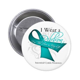 I Wear a Ribbon For My Hero Interstitial Cystitis 6 Cm Round Badge
