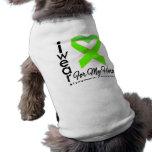 I Wear a Ribbon For My Hero - Lymphoma Sleeveless Dog Shirt