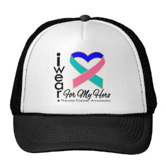 I Wear a Ribbon For My Hero - Thyroid Cancer Hat