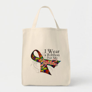 I Wear a Ribbon For My Nephew - Autism Awareness Bags