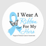 I Wear A Ribbon HERO Prostate Cancer Sticker