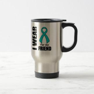 I Wear a Teal Ribbon For My Friend Mugs