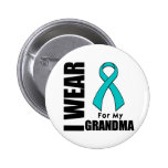 I Wear a Teal Ribbon For My Grandma 6 Cm Round Badge