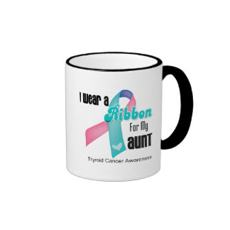 I Wear a Thyroid Cancer Ribbon For My Aunt Mugs