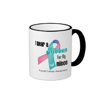 I Wear a Thyroid Cancer Ribbon For My Niece Mugs