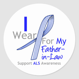 I Wear ALS Ribbon For My Father-in-Law Sticker