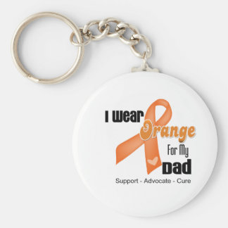 I Wear an Orange Ribbon For My Dad Basic Round Button Key Ring
