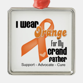 I Wear an Orange Ribbon For My Grandfather Christmas Ornament