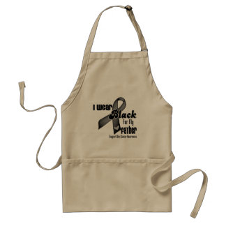 I Wear Black For My Father Skin Cancer Adult Apron