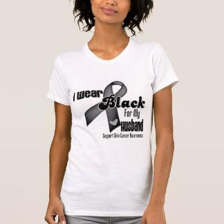I Wear Black For My Husband Skin Cancer Shirts