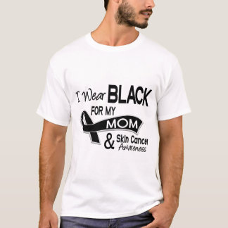 I Wear Black For My Mom 42 Skin Cancer T-Shirt