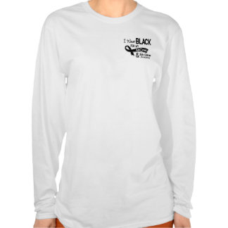 I Wear Black For My Mom 42 Skin Cancer Shirt