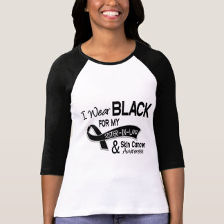 I Wear Black For My Sister-In-Law 42 Skin Cancer Tshirt