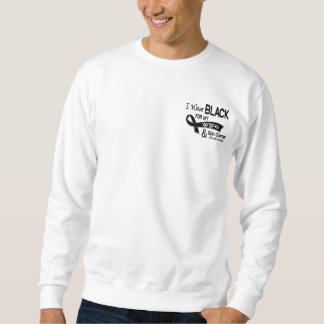 I Wear Black For My Wife 42 Skin Cancer Pullover Sweatshirts