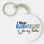 I Wear Blue and Yellow For My Sister Down Syndrome