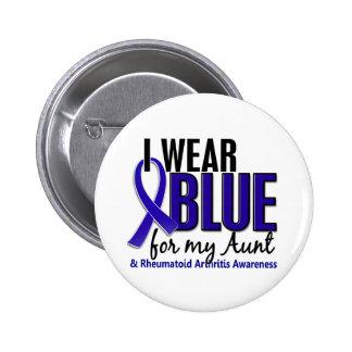I Wear Blue Aunt Rheumatoid Arthritis RA 6 Cm Round Badge