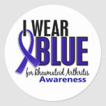 I Wear Blue Awareness 10 Rheumatoid Arthritis RA Round Sticker