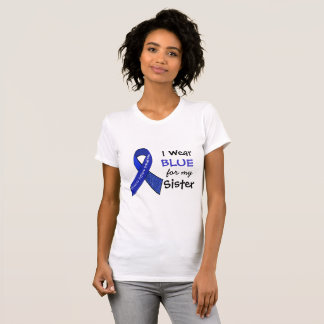 I Wear Blue e for my Sister CFS Shirt