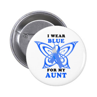 I Wear Blue for my Aunt 6 Cm Round Badge