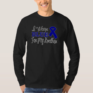 I Wear Blue For My Brother (Blue Awareness Ribbon) Shirts