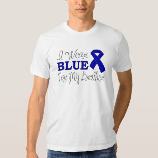 I Wear Blue For My Brother (Blue Awareness Ribbon) T Shirt