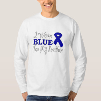I Wear Blue For My Brother (Blue Awareness Ribbon) Tshirt