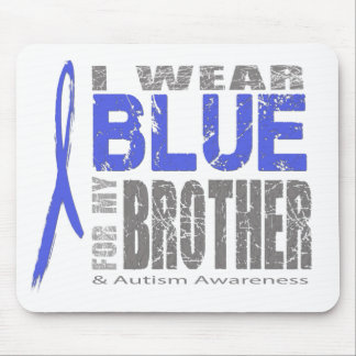 I wear blue for my brother mouse pad