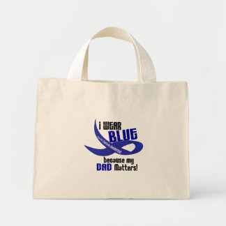 I Wear Blue For My Dad 33 COLON CANCER AWARENESS Canvas Bag