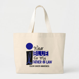 I Wear Blue For My Father-In-Law 9 COLON CANCER Jumbo Tote Bag