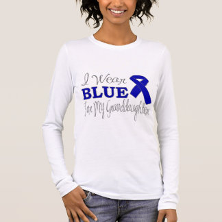 I Wear Blue For My Granddaughter (Blue Ribbon) Long Sleeve T-Shirt