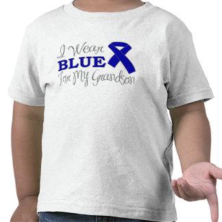 I Wear Blue For My Grandson Blue Ribbon Tshirt