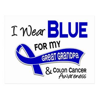 I Wear Blue For My Great Grandpa 42 Colon Cancer Postcard