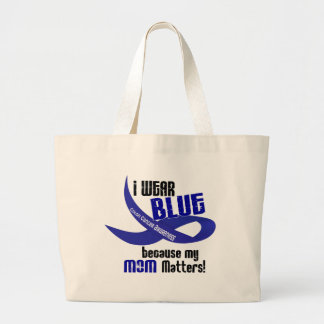 I Wear Blue For My Mom 33 COLON CANCER AWARENESS Jumbo Tote Bag