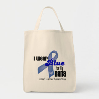 I Wear Blue For My Nana Colon Cancer Tote Bags