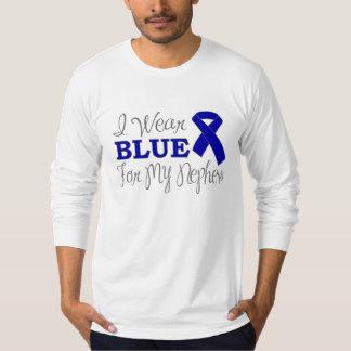 I Wear Blue For My Nephew (Blue Awareness Ribbon) Tees