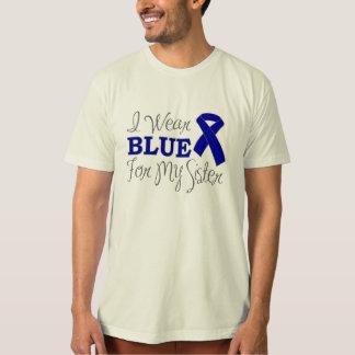 I Wear Blue For My Sister (Blue Awareness Ribbon) Shirt