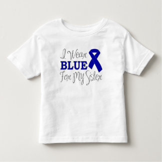 I Wear Blue For My Sister (Blue Awareness Ribbon) Tshirt