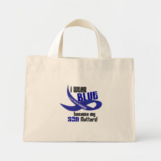 I Wear Blue For My Son 33 COLON CANCER AWARENESS Mini Tote Bag