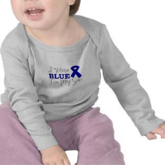 I Wear Blue For My Son Blue Awareness Ribbon Shirt