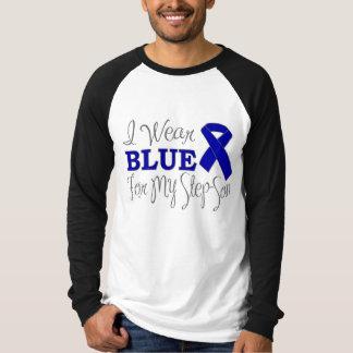 I Wear Blue For My Step-Son (Blue Ribbon) Shirt