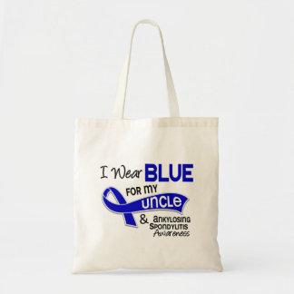 I Wear Blue For My Uncle 42 Ankylosing Spondylitis Budget Tote Bag