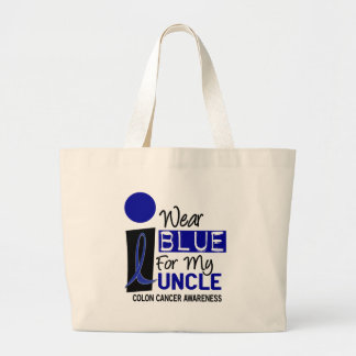 I Wear Blue For My Uncle 9 COLON CANCER Apparel Jumbo Tote Bag