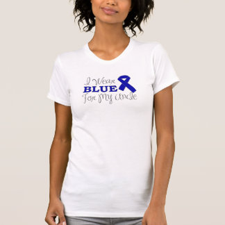 I Wear Blue For My Uncle (Blue Awareness Ribbon) T-Shirt