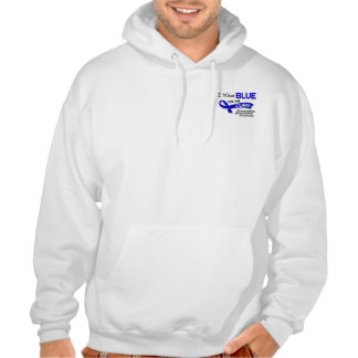 I Wear Blue For The Cure 42 Ankylosing Spondylitis Hooded Sweatshirt