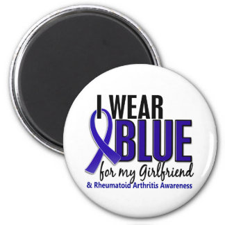 I Wear Blue Girlfriend 10 Rheumatoid Arthritis RA 6 Cm Round Magnet